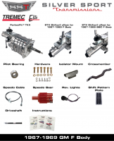 Transmissions - Tremec Transmission Kits by SST - SST - 67-69 FB, F-Body, SST Tremec Perfect-Fit 5 Speed TKX Transmission Kit, Manual to TKO