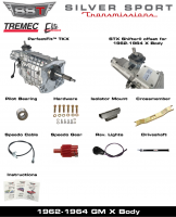 Transmissions - Tremec Transmission Kits by SST - SST - 62-64 X-Body, SST Tremec Perfect-Fit 5 Speed TKX Transmission Kit, Manual to TKX