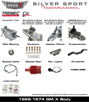Transmissions - Tremec Transmission Kits by SST - SST - 68-74 X-Body, SST Tremec Perfect-Fit 5 Speed TKX Transmission Kit, Manual to TKX