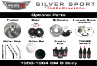 Transmissions - Tremec Transmission Kits by SST - SST - 58-64 B-Body, SST Tremec Perfect-Fit 5 Speed TKX Transmission Kit, Manual to TKX