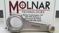 "Molnar - Molnar 4340 Forged H-Beam Rod, 6.625"", 2.250"" Pontiac RJ, Bushed"