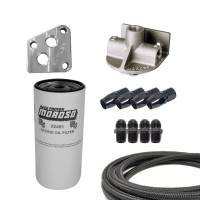 Oil Pans, Dip Sticks, Tubes & Oil Accessories - Oil System Components - Butler Performance - Pontiac Billet Bolt On Remote Oil Filter Bypass Kit BPI-1011-KIT