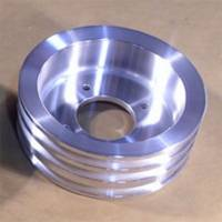 Pontiac 3-Groove Crankshaft Pulley for 1971 and later A/C Applications-Polished