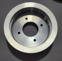Pontiac 3-Groove Crankshaft Pulley for 1968-70 A/C Applications-Polished