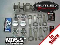 "400 Blocks (406-495 cu. In.) - Butler Custom Rotating Assemblies - Butler Performance - Butler/Ross 461ci (4.155"") -24cc Dish Top Balanced Rotating Assembly Stroker Kit, for 400 Block, 4.250""str."