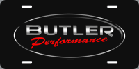 Apparel, Decals, Books, Gift Cards - Decals - License Plates- Gift Cards - Butler Performance - Butler Performance Logo License Plate