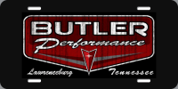 Apparel, Decals, Books, Gift Cards - Decals - License Plates- Gift Cards - Butler Performance - Butler Performance Retro License Plate