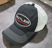 Butler Performance Hat Black on White Mesh Back